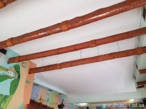 Натяжные потолки в ресторане на Пастера