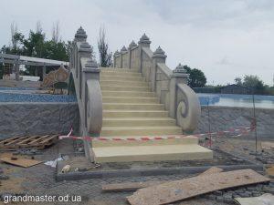 Обработка и покраска бетона в аквапарке